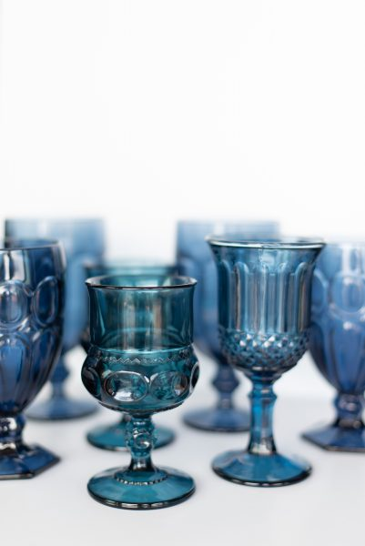 Marquee Blue Glass Goblets